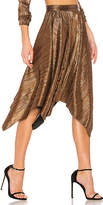 House Of Harlow x REVOLVE Penny Skirt in Metallic Gold. - size L (also in M,S,XL,XS,XXS)
