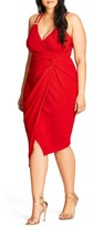 City Chic Plus Size Women's So Seductive Faux Wrap Dress