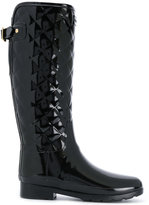 Hunter quilted knee-high boots