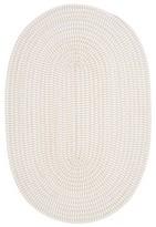 Nobrand No Brand Tiny Ticking Oval Canvas Rug