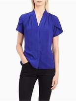 Calvin Klein V-Neck Short Sleeve Blouse