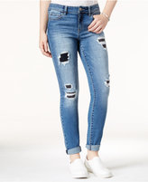 Tinseltown Juniors' Rip and Repair Slim Boyfriend Jeans