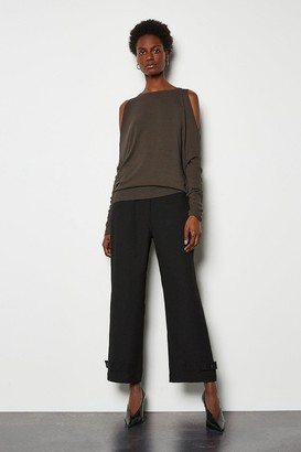 Karen Millen Button Hem Trousers