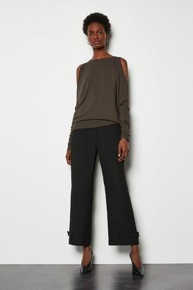 Karen Millen Button Hem Trousers