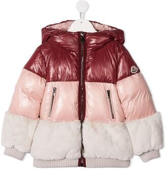 Moncler Enfant Colour-Block Panelled Jacket