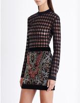 Balmain Harlequin-pattern knitted top