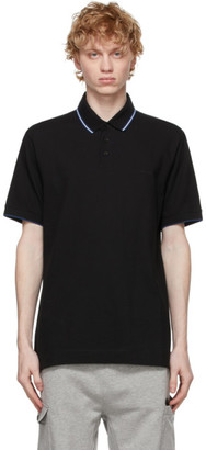 Ermenegildo Zegna Black Stretch Cotton Polo