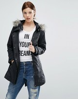 Urban Code Urbancode Parka With Faux Fur Lined Hood