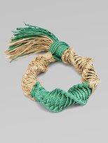 Natural Raffia Fringed Bracelet