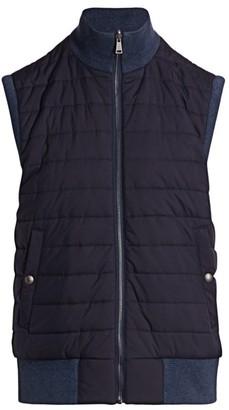 Ralph Lauren Purple Label Quilted Reversible Vest