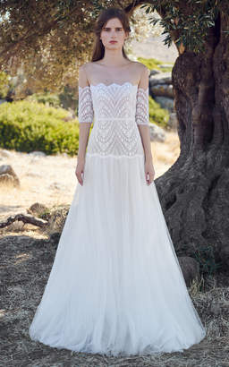 Costarellos Daphne Lace Gown