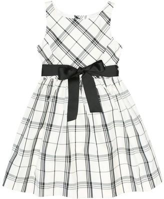 Polo Ralph Lauren Kids Checked taffeta dress