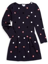 Lacoste Toddler's, Little Girl's & Girl's Round Neck Spotted Dress