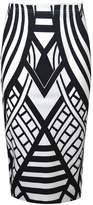 VIP Womens Monochrome Weaved Pattern Pencil Midi Skirt (Sty) (4/6 (uk), )