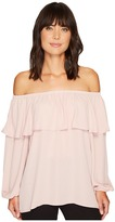 Vince Camuto Long Sleeve Ruffled Off Shoulder Blouse Women's Blouse