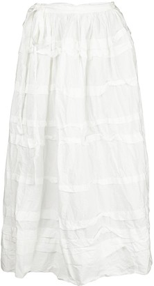 Daniela Gregis Side-Tie Midi Skirt