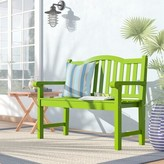 Beachcrest Home Ambler Wooden Garden Bench Color: Lime Green