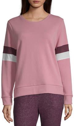 Xersion Womens Round Neck Long Sleeve Sweatshirt