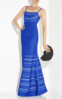 Herve Leger Giovanna Multi-Crochet Stitch Gown