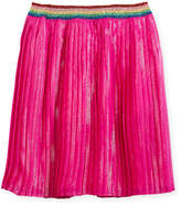 Gucci Metallic Organza Pleated Skirt, Size 4-12