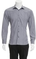 John Varvatos Striped Button-Up Shirt