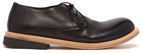Marsèll Contrast Sole Leather Derby Shoes - Mens - Black
