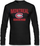 SLIAT Men's Montreal Canadiens Logo Long Sleeve Tshirts
