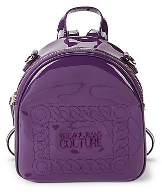 Versace Jeans Couture Patent Dome Backpack