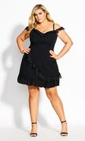 City Chic Angelique Dress - black