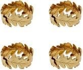Oscar de la Renta Oak Leaf Napkin Rings - Set of 4