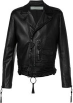 Off-White Giorgio De Chirico biker jacket - men - Lamb Skin/Viscose - S