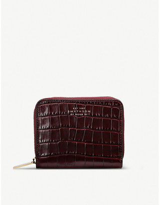 Smythson Mara small crocodile-embossed leather purse
