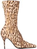 Zimmermann animal print mid-calf boots