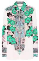Etro Printed stretch-cotton blouse