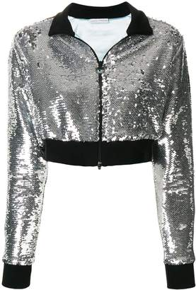Chiara Ferragni cropped sequinned jacket