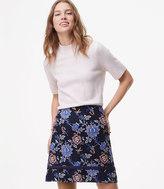 LOFT Evening Garden Shift Skirt