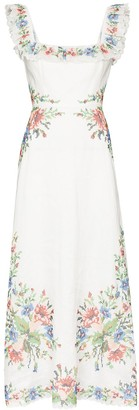 Zimmermann Juliette floral-print linen maxi dress