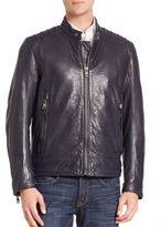 Andrew Marc Long Sleeve Leather Jacket