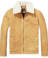 Scotch & Soda Teddy Collared Leather Jacket