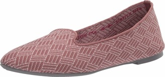 Skechers Women's Cleo-Huntington-Printed Engineered Knit Loafer Skimmer Ballet Flat