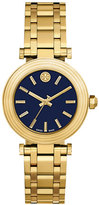 Tory Burch The Classic T Golden Watch, Yellow/Navy