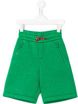 Fendi monster logo patch shorts - kids - Modal - 10 yrs