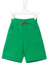 Fendi monster logo patch shorts - kids - Modal - 4 yrs
