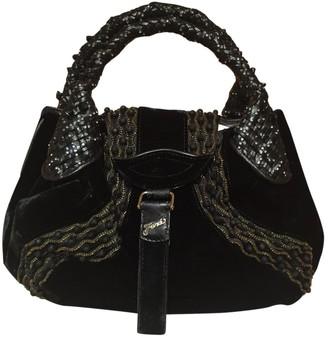 Fendi Spy Black Velvet Handbags
