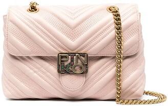 Pinko Logo-Plaque Leather Cross Body Bag