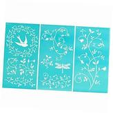 Martha Stewart Large Stencils (8.75 By 16.75-inch), 32264 Tendrils (3 Sheets With 10 Designs)