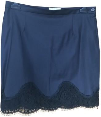 Patrizia Pepe Navy Wool Skirt for Women