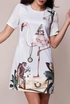 Yumi Flamingo Tunic Dress