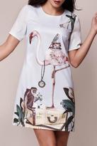 Yumi Flamingo Tunic Dress