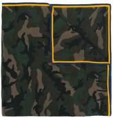 Valentino camouflage print scarf